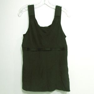 Nine West Black Tank Top Blouse 100% Silk Size 10